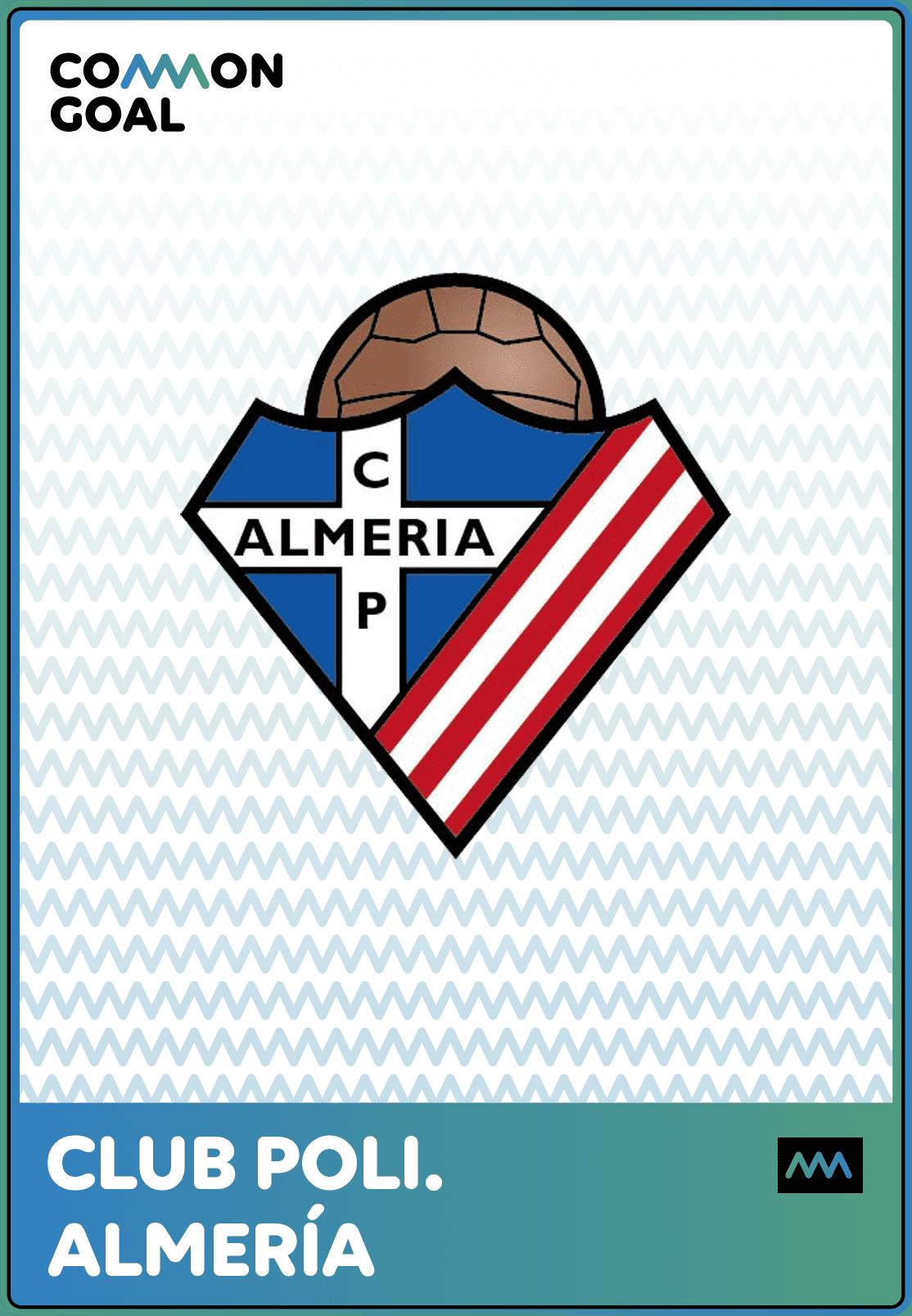 Polideportivo Almería como miembro de la Common Goal