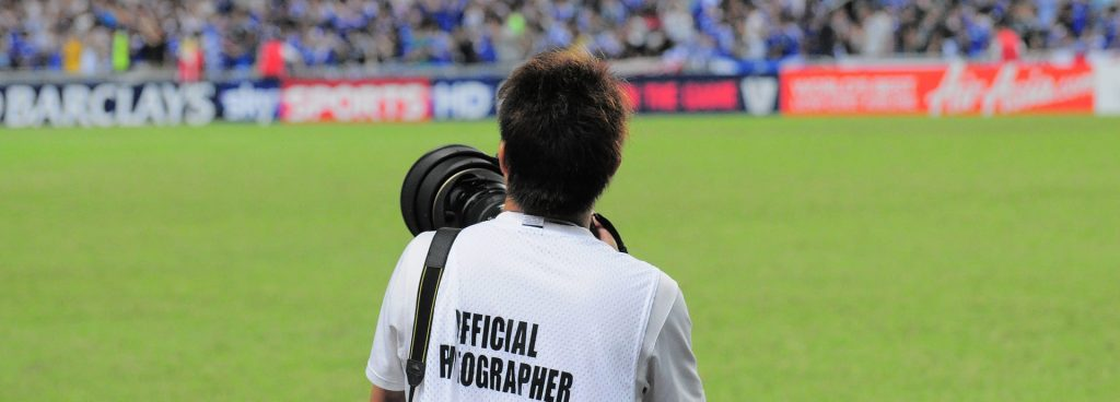 Fotografía de un fotógrafo de prensa