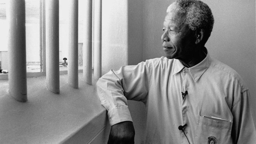 Mandela en la carcel