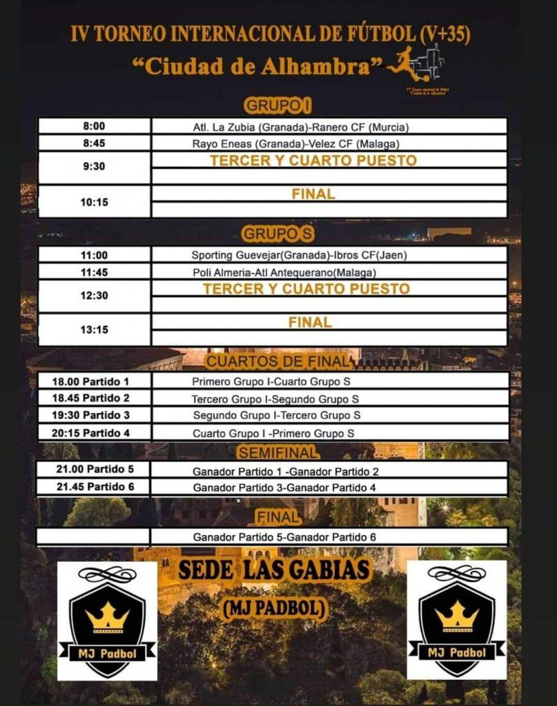 cartel Torneo Ciudad de Alambra 2021 Sede las Gabias